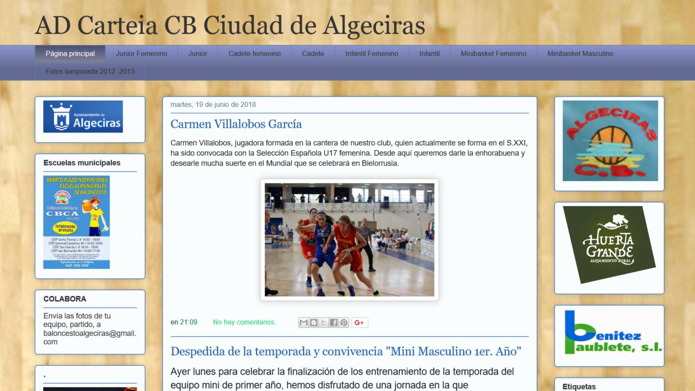 Blog AD Carteia CB Ciudad de Algeciras