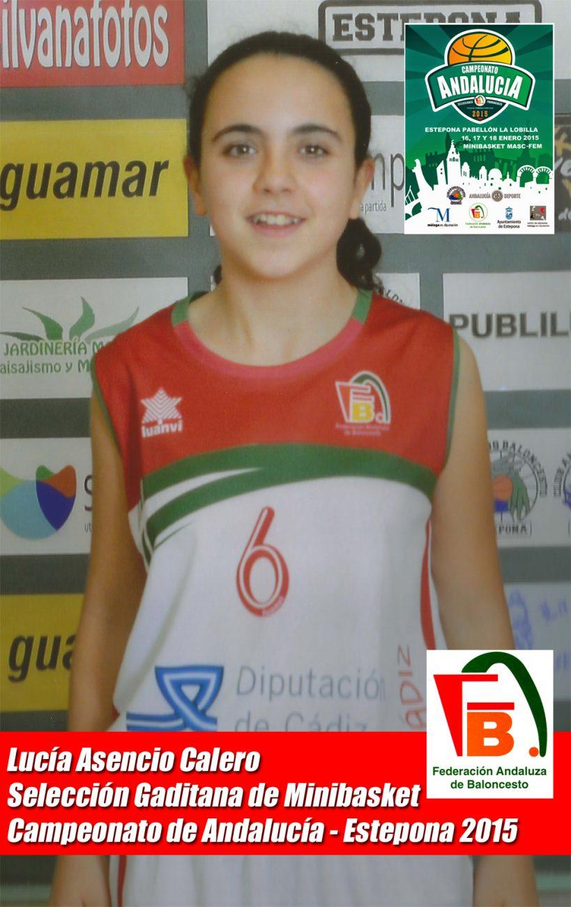 Lucía Asencio en el Campeonato de Andalucía de 2015 en Estepona