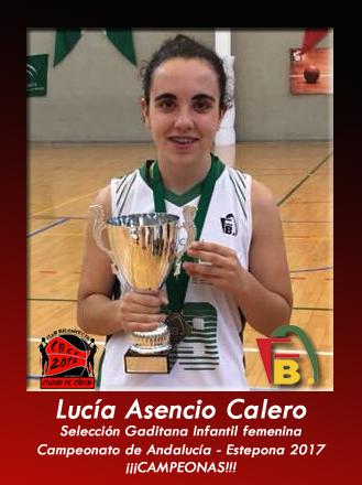 Lucía Asencio campeona de Andalucía 2017